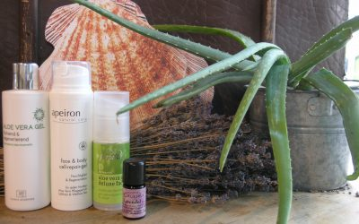 Aloe Vera und ätherisches Lavendelöl bei Sonnenbrand